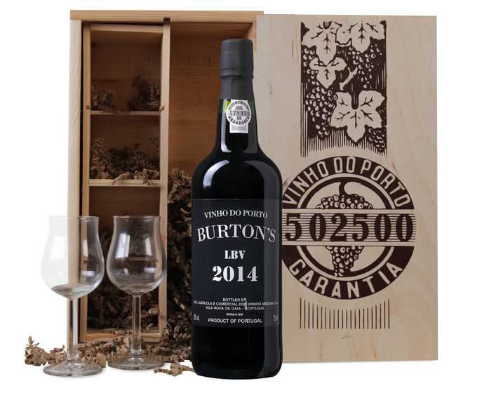 Late Bottled Vintage Port 2014 + 2 portglazen
